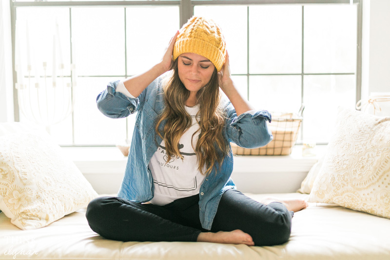 Relaxed Style: Bright Beanie + Chambray Button up // www.thinkelysian.com