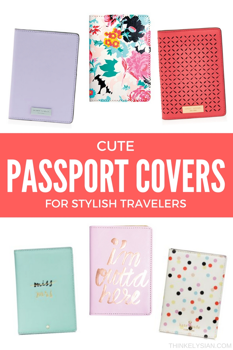 Cute passport covers for stylish travelers! Keep your passport protected and fashionable // thinkelysian.com