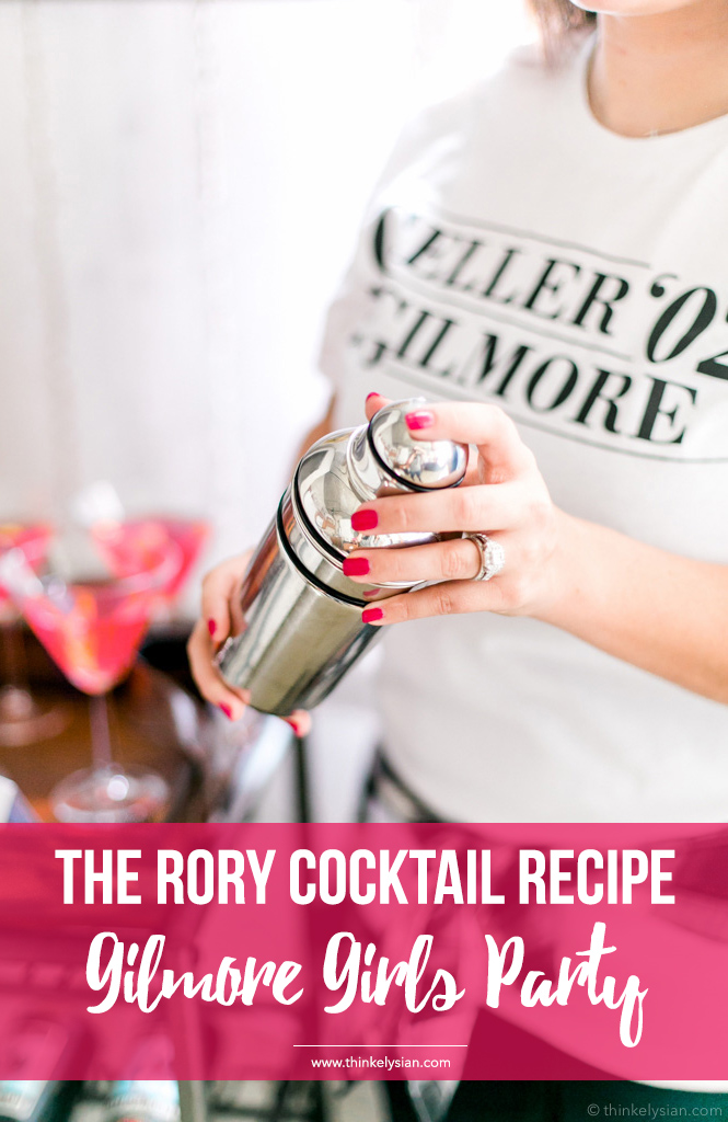 The Rory Cocktail recipe for the ultimate Gilmore Girls revival watch party guide // thinkelysian.com